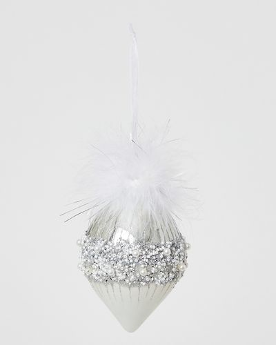 Beaded Feather Finial