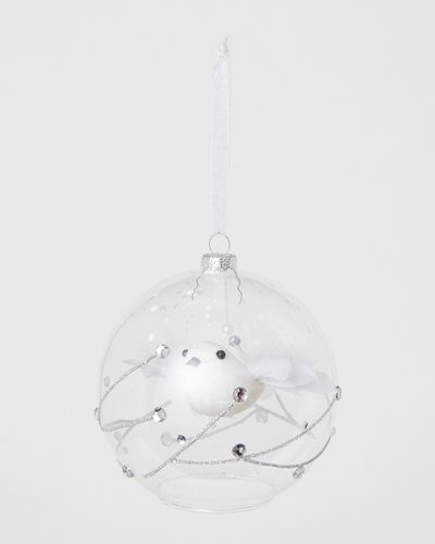 Flying Bird In Clear Bauble