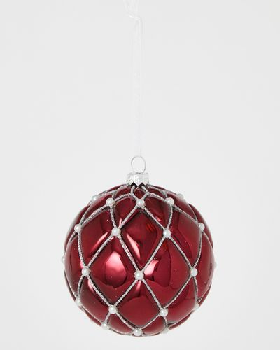 Quilted Pearl Bauble