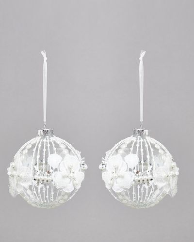 3D Lace Bauble - Pack Of 2 thumbnail