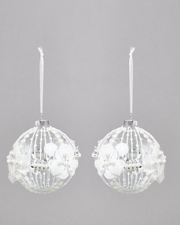 3D Lace Bauble - Pack Of 2