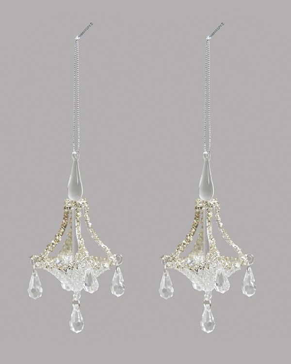Glass Chandelier - Pack Of 2