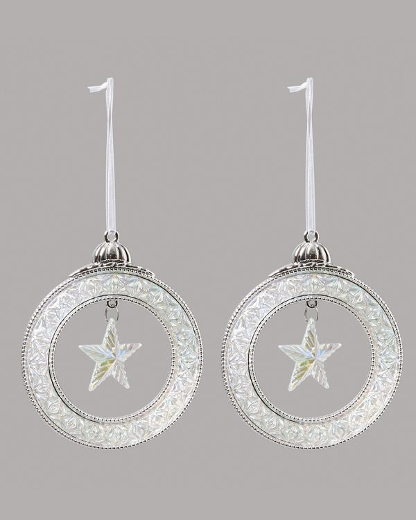 Hanging Star In Circle - Pack Of 2