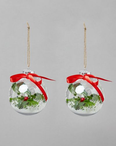 Mistletoe Bauble - Pack Of 2 thumbnail