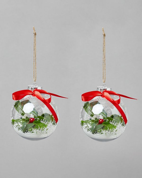 Mistletoe Bauble - Pack Of 2