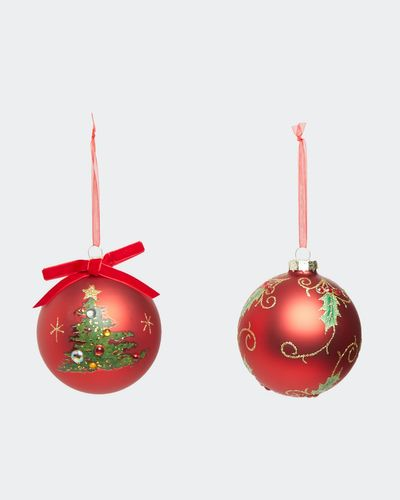 Foliage Bauble - Pack Of 2