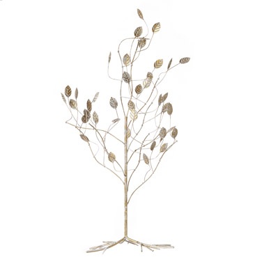 white Brushed Gold Wire Tree