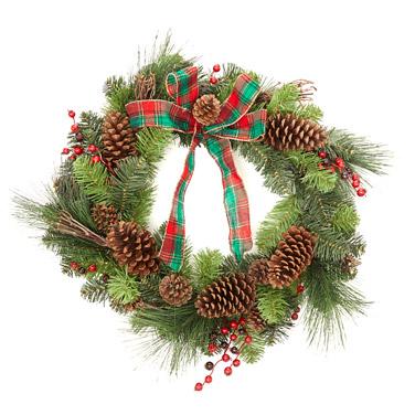 greenTartan Wreath - 24in