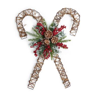 brownCandy Cane Wreath