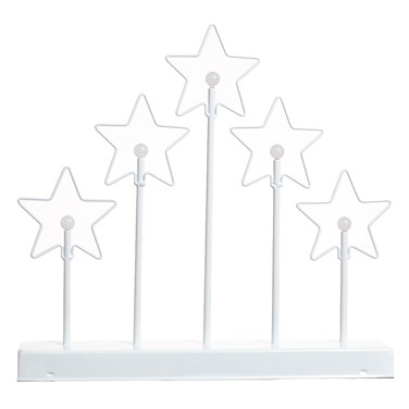 whiteFive Star LED Candle Bridge