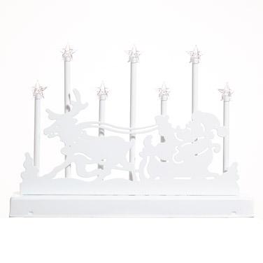 whiteSeven Lamp Santa Candle Bridge