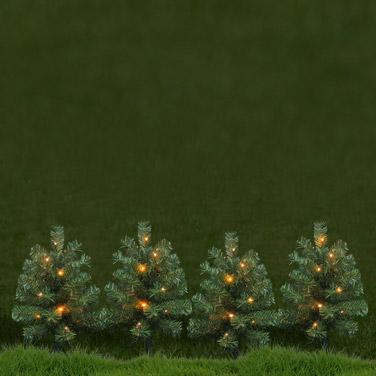 greenLED Mini Trees - Set Of 4