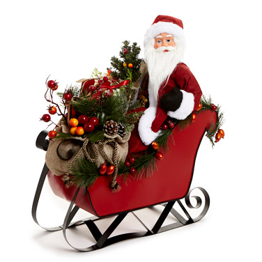 red Santa In Sleigh