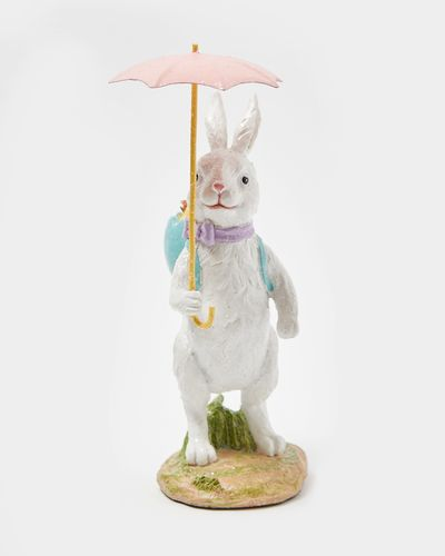 Resin Bunny With Umbrella