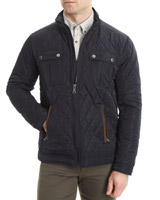 navy Regular Fit Quilted Jacket