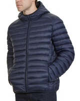 navy Hooded Padded Jacket
