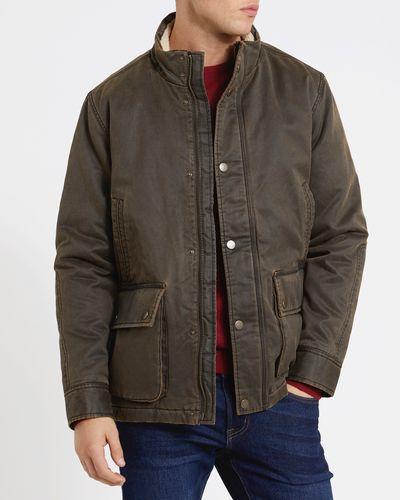Waxed Jacket With Borg Collar