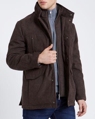 Brown Double Collar Coat