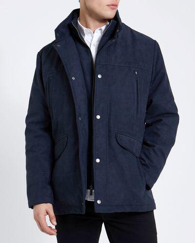 Navy Double Collar Coat