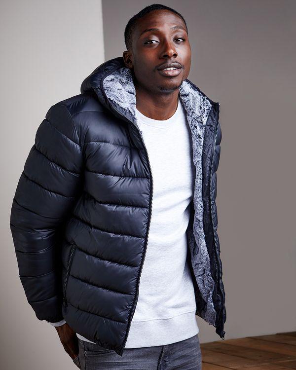 Padded Faux Fur Jacket