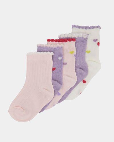 Baby Girls Design Socks - Pack Of 5 thumbnail