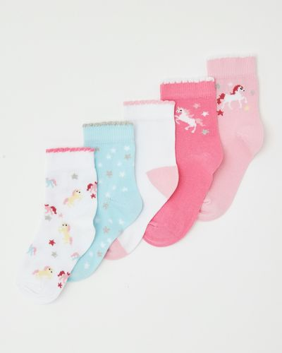 Baby Girls Design Socks - Pack Of 5 thumbnail