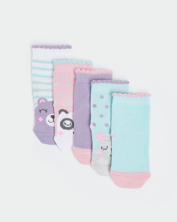 Baby Girls Design Socks - Pack Of 5