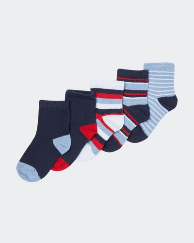 Baby Boys Design Socks - Pack Of 5 thumbnail