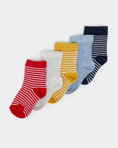 Baby Boys Design Socks - Pack Of 5 thumbnail