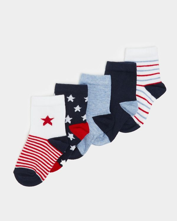 Baby Boys Design Socks - Pack Of 5