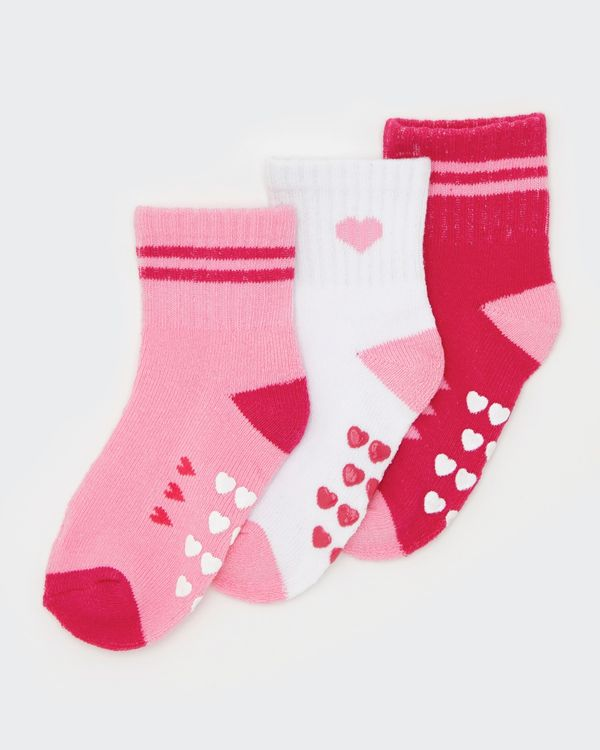 Baby Girls Sports Socks - Pack Of 3