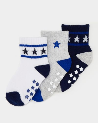 Baby Boys Sports Socks - Pack Of 3 thumbnail
