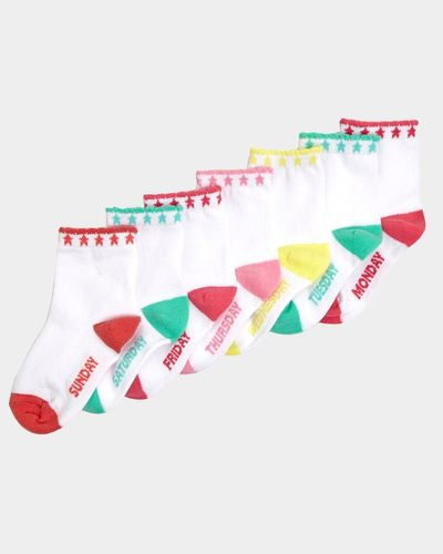 Baby Girls Cotton-Rich Socks - Pack Of 7 thumbnail