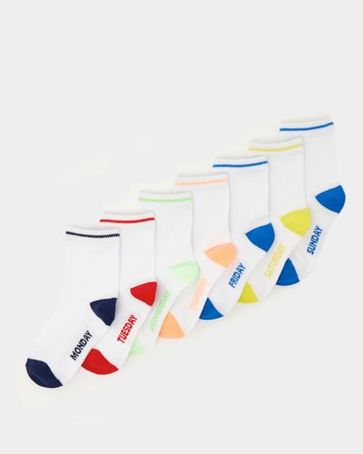 Baby Boys Cotton-Rich Socks - Pack Of 7