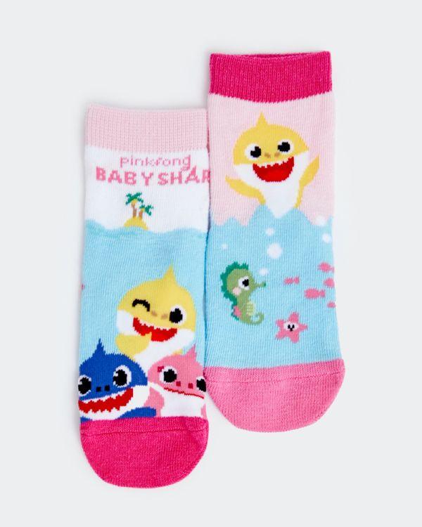 Baby Girls Baby Shark Sock - Pack of 2
