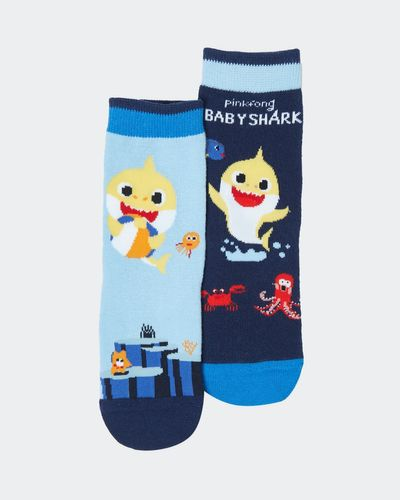 Baby Boys Baby Shark Sock - Pack Of 2 thumbnail