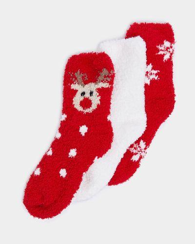 Girls Fluffy Socks - Pack Of 3 thumbnail
