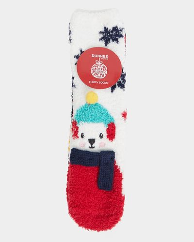 Girls Fluffy Socks - Pack Of 3 thumbnail