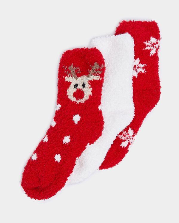 Girls Fluffy Socks - Pack Of 3