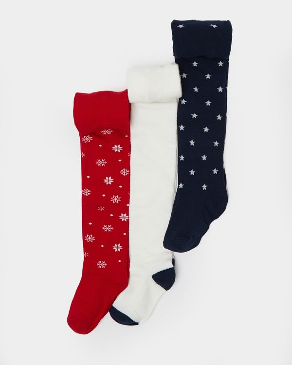 Christmas Tights - Pack Of 3