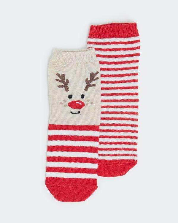 Baby Christmas Fluffy Socks - pack of 2