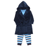 blue Baby Boys Robe And PJ Set