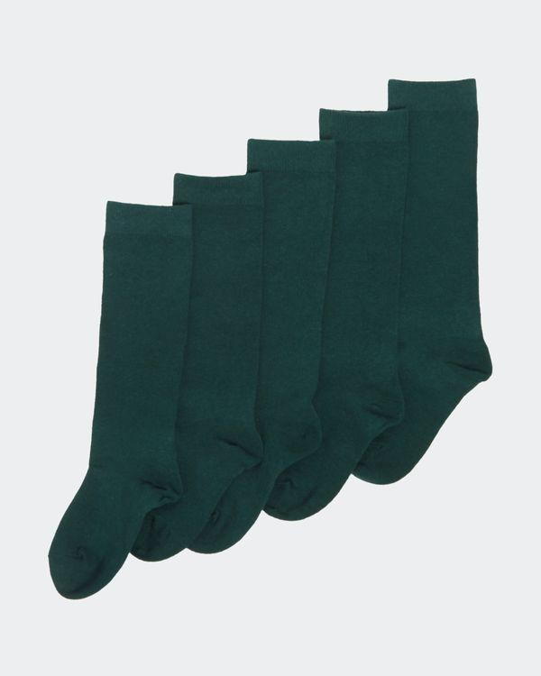 Girls Cotton Rich Knee High Socks - Pack Of 5
