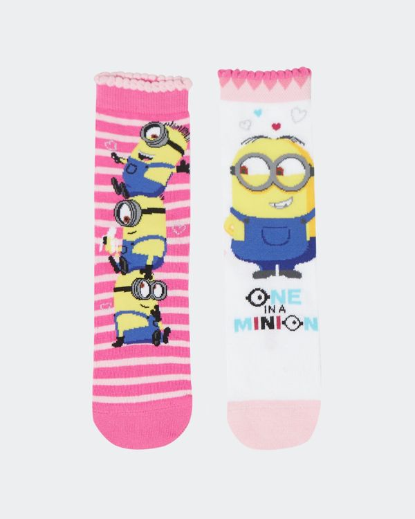 Girls Minions Sock - Pack Of 2
