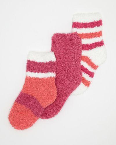 Girls Cosy Fluffy Socks - Pack Of 3 thumbnail
