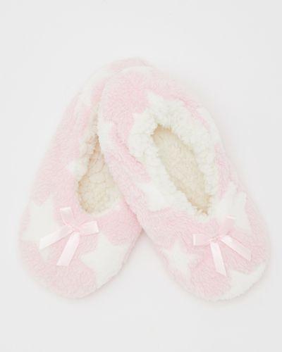 Bow Fluffy Slipper Sock
