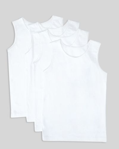 Girls Sleeveless Vests – 4 Pack