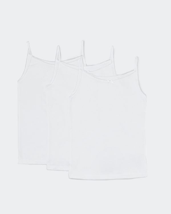 Strappy Vest - Pack Of 3 (2-10 years)