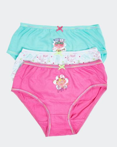 Girls Trolls Briefs - Pack Of 3 thumbnail