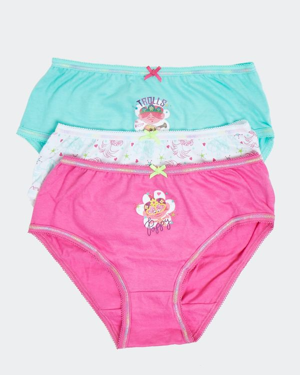 Girls Trolls Briefs - Pack Of 3